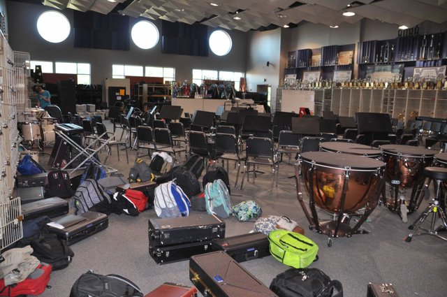 Hoover High band room Oct 2016
