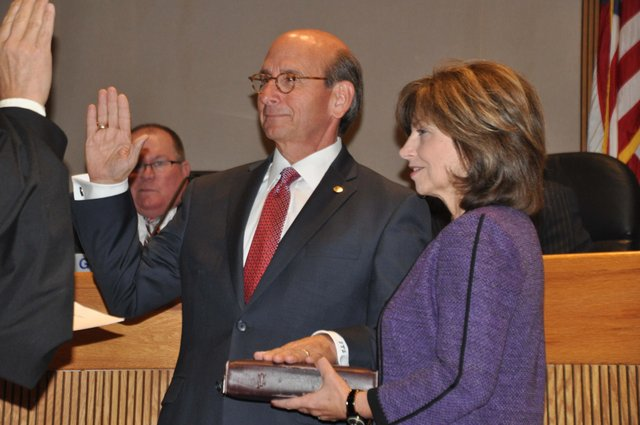 Frank Brocato swearing in