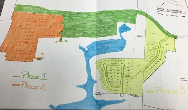 Lake Wilborn Phase 3 map