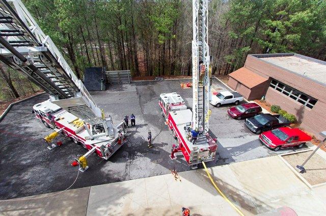 Hoover fire ladder trucks 2015