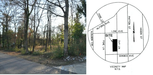 Ivy Lane resubdivision photo and map