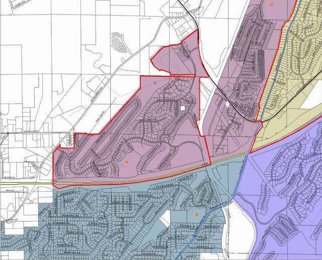 Students in area along South Shades Crest Road might have to move from South Shades Crest to Trace Crossings Elementary.