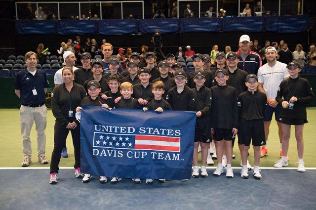Davis Cup ball kid team 2017