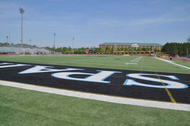 Spain Park football turf April 2017