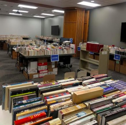 Friends of the Hoover Library group ready for 2017 spring book sale
