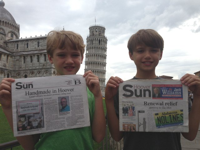 Summerfunphoto1- Leaning tower of Pisa