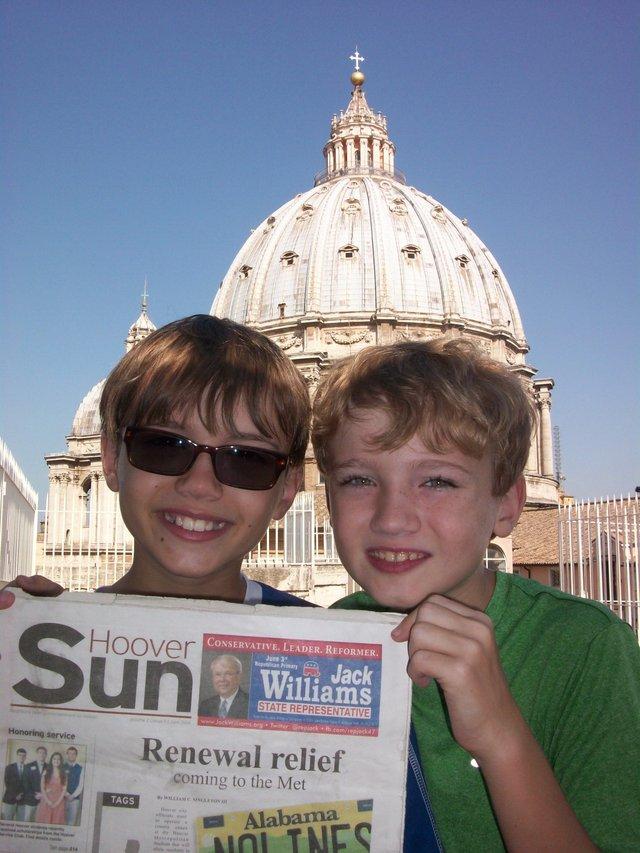 Summerfunphoto2- Atop St. Peter's Basilica