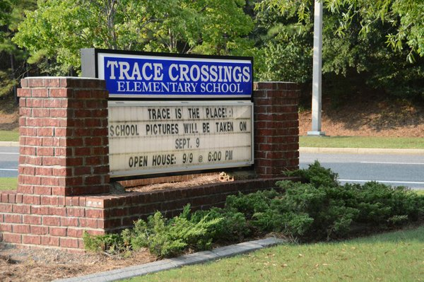 Trace Crossings Elementary Sign