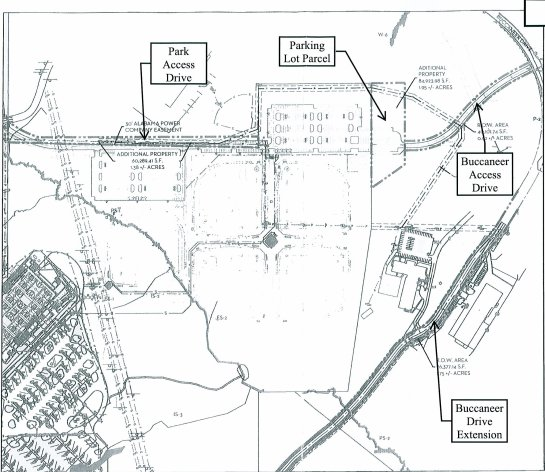 Hoover High access roads property