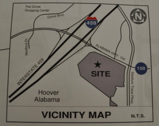 Stadium Trace Village vicinity map