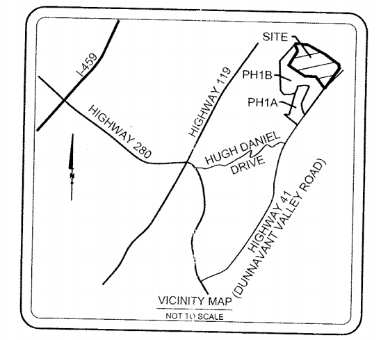 Brock Point Phase 2A site map