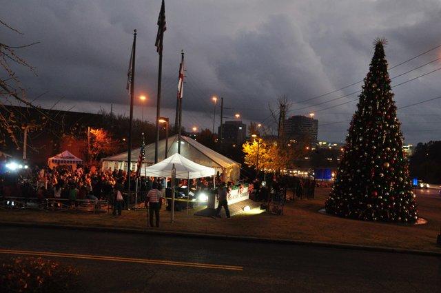 Hoover Christmas tree lighting 2017-2