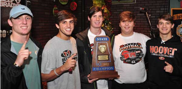 hoover players with trophy