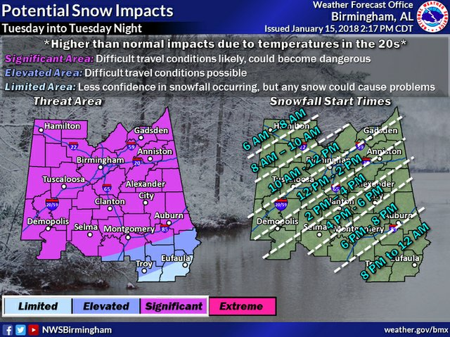 National Weather Service 1-15-18 2-17pm