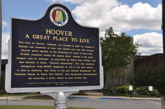 Hoover great place to live sign