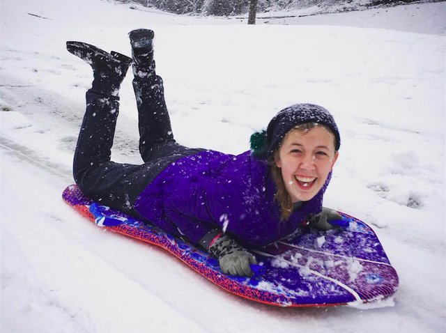 Anabelle Kunz Riverchase snow day 12-8-17
