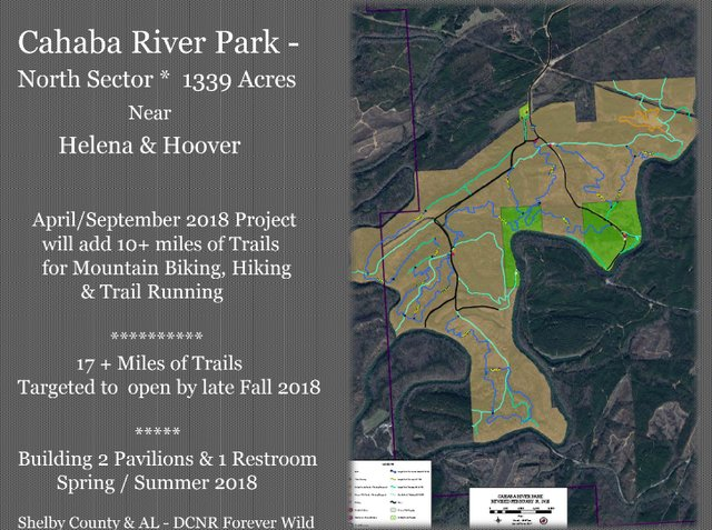 Cahaba River Park North Sector map