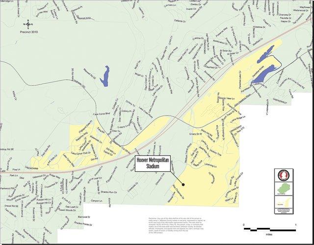 Hoover Metropolitan Stadium polling place map