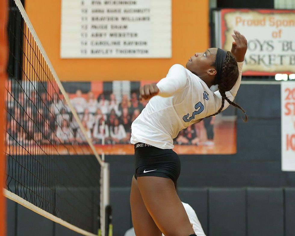 Spain Park volleyball Sha'Kevia Hogan 9-2-17