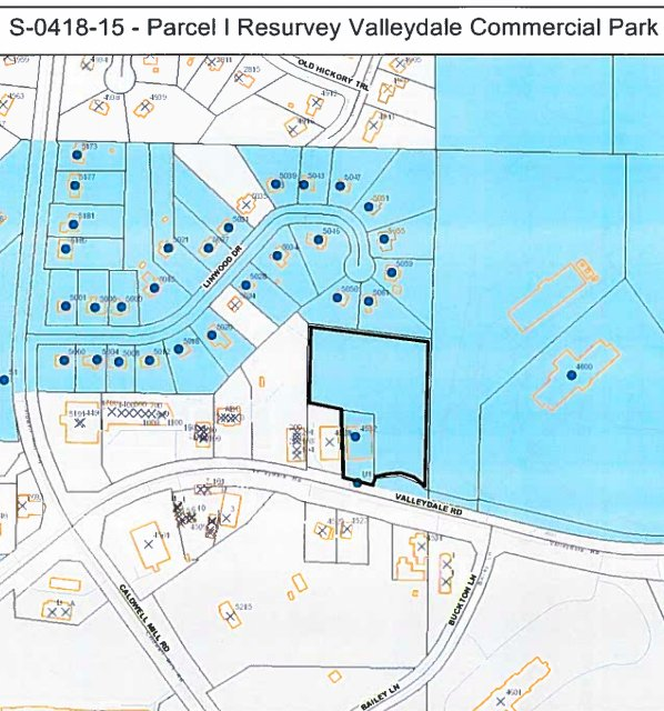 Valleydale Commercial Park resurvey 4-9-18