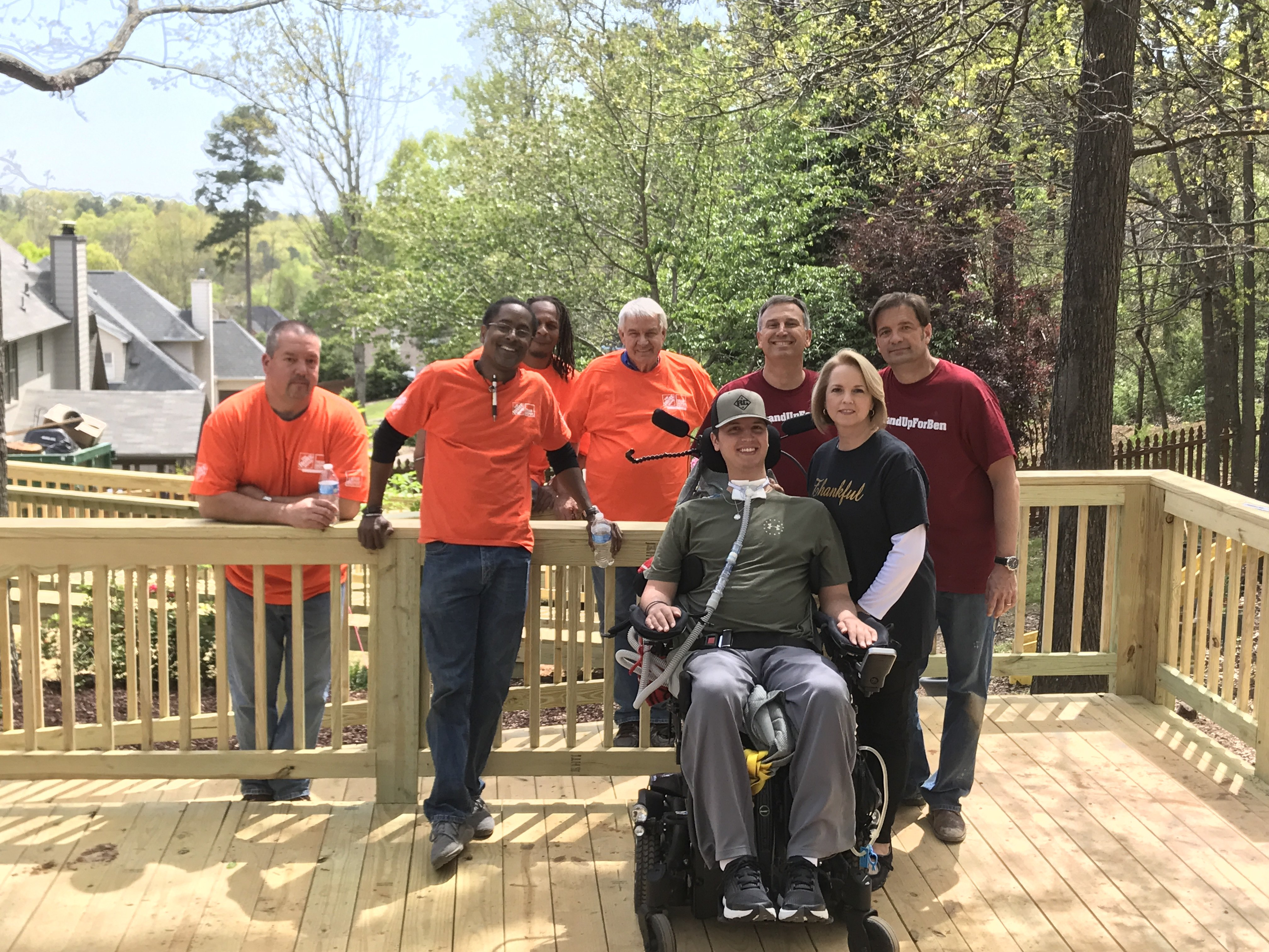 Hoover Home Depot Employees Build Accessible Deck For Ben Abercrombie Family Hooversun Com