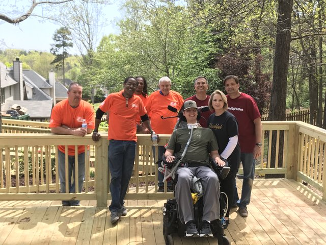 Home Depot Foundation project for Ben Abercrombie