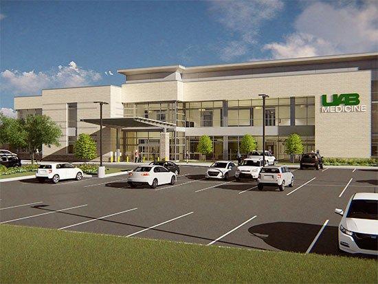 UAB Hoover medical building sketch