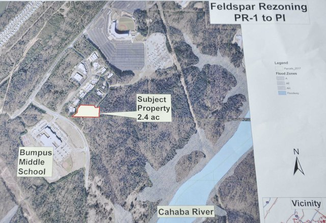 Feldspar Way rezoning map