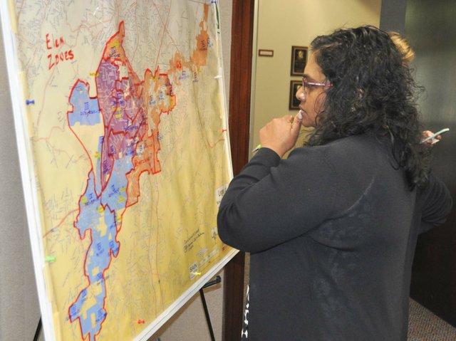 Hoover school rezoning map April 2018