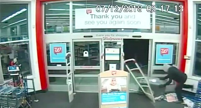 Three men steal an ATM from the Walgreen's drug store at 5271 Ross Bridge Parkway in Hoover, Alabama, at 2:17 a.m. on Thursday, July 12, 2018.