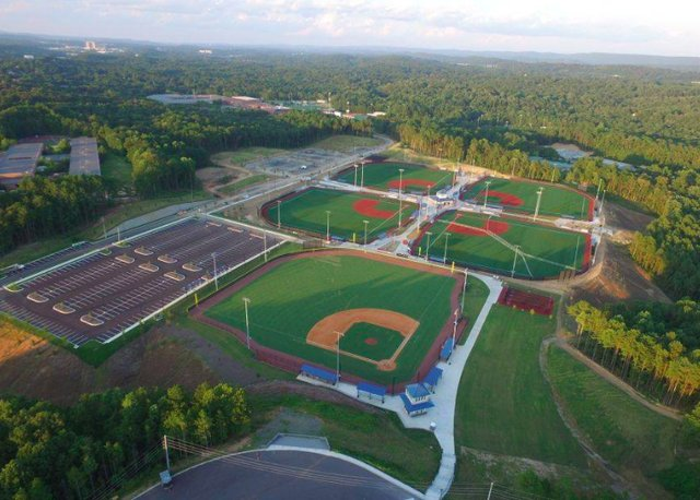 Hoover sports complex baseball fields July 2018