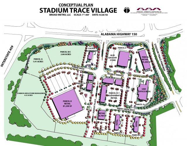 Stadium Trace Vilalge conceptual plan 9-24-18
