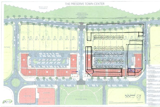 The Preserve town center rough sketch 10-8-18