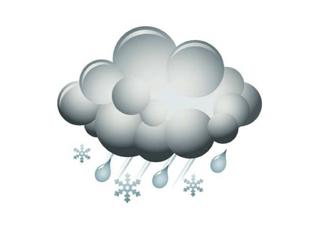 Weather storm and snow