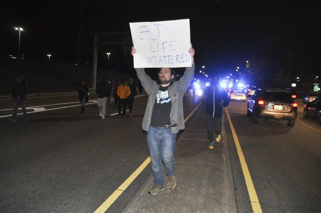 Galleria shooting protest march 11-26-18