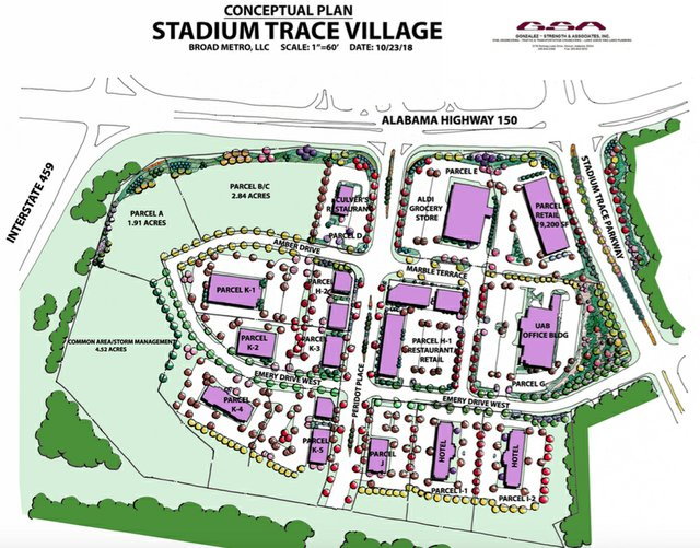 Stadium Trace Village concept plan 10-23-18