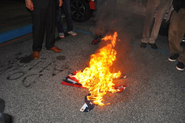 protest flag burning 2-5-19