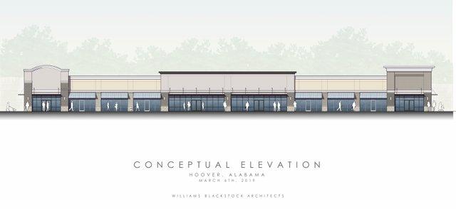Orange Development strip center concept