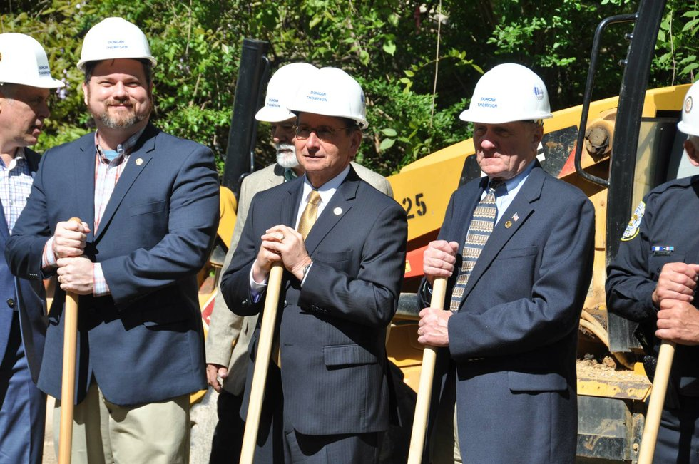 police training center groundbreaking 12