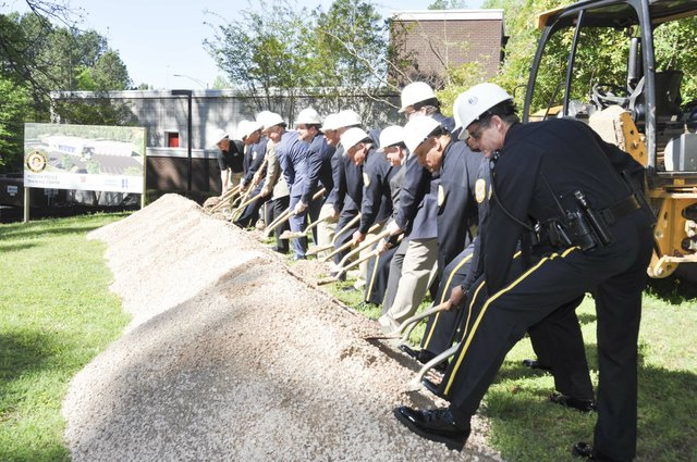 police training center groundbreaking 1