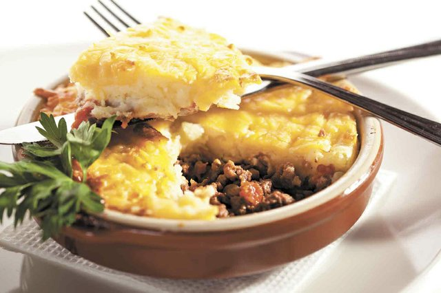Cottage Pie with Mushrooms Sauce