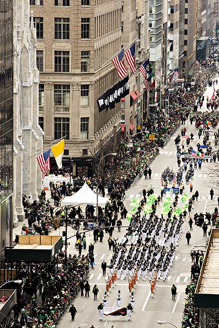 Hoover Band at St. Patrick's Day Parade in NYC