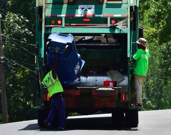 Santek recycling pickup  8-21-19