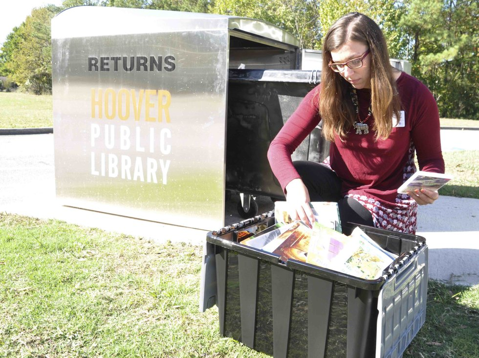 Hoover library book drop