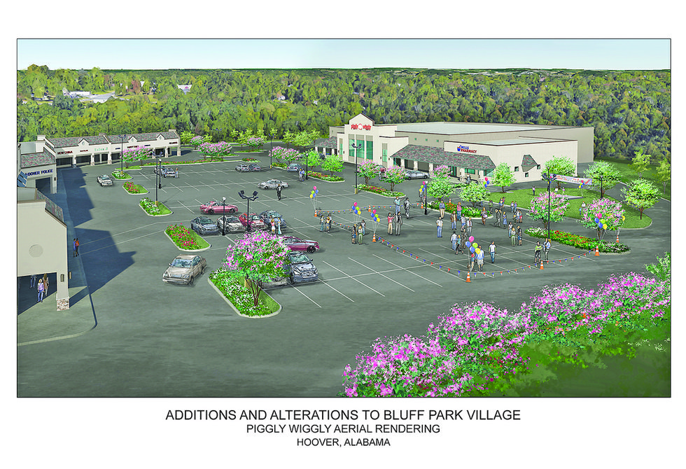 Bluff Park Village redevelopment sketch