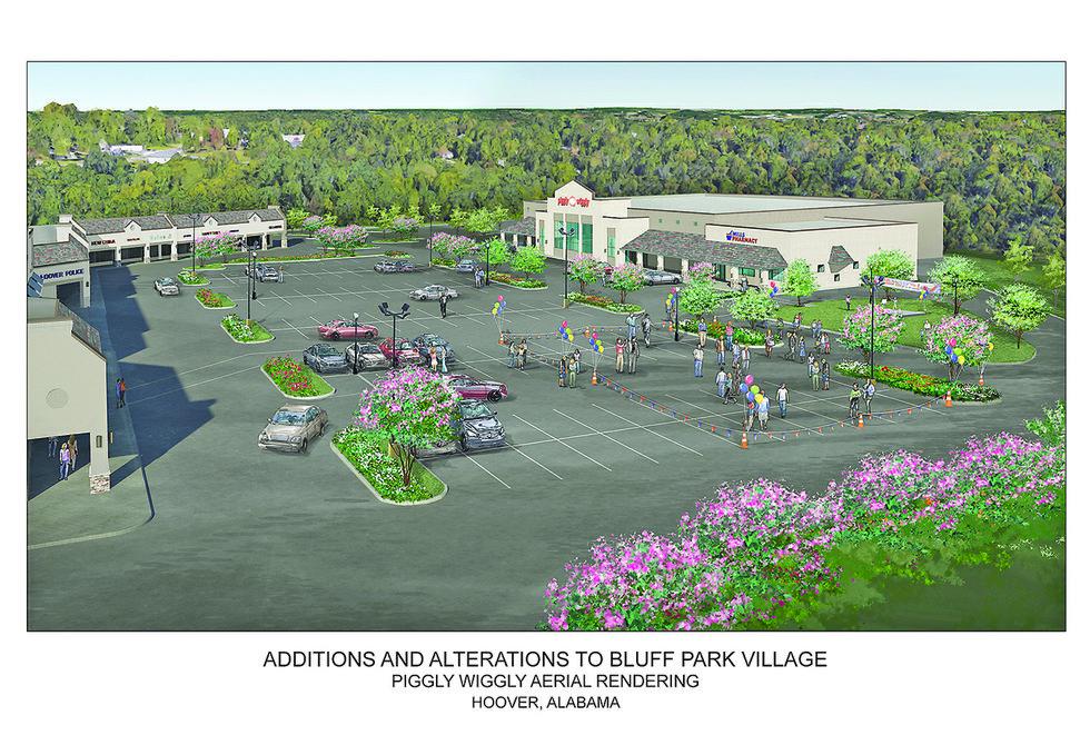 Bluff Park Village redevelopment sketch