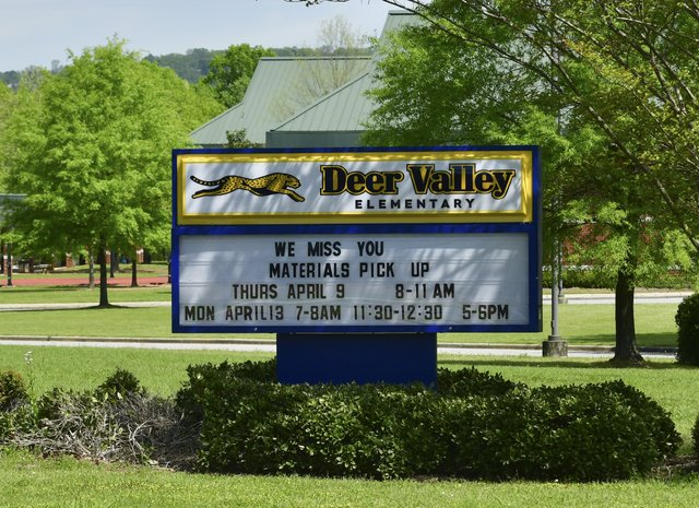 Deer Valley Elementary Marquee