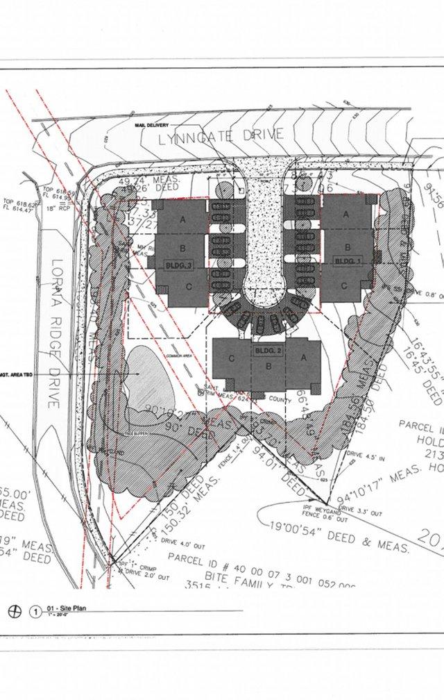 Lynngate town house site plan 9-14-20