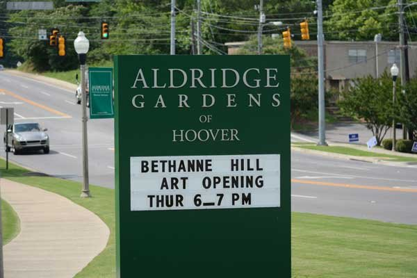 Aldridge Gardens sign