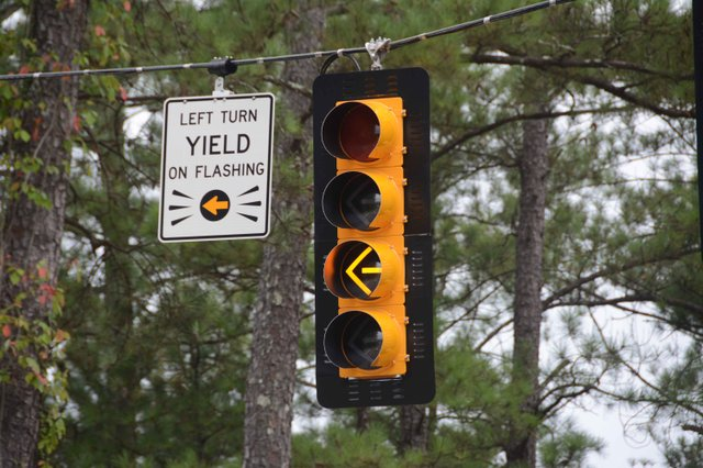 Flashing Yellow Traffic Signal